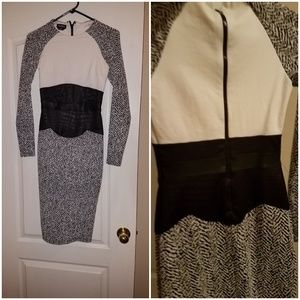XS Black & White Dress